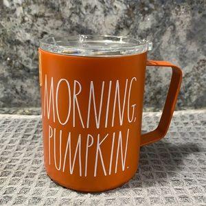 Rae Dunn MORNING PUMPKIN Insulated Mug